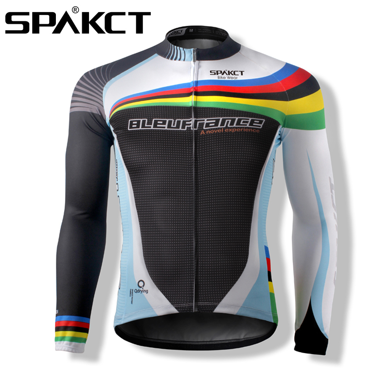 Spakct Cycling Sport Long Jersey Men's Bike Bicycle Long Sleeve Jersey Jacket Sportwear Cycling Clothing Equipment Cote d'Azur цена
