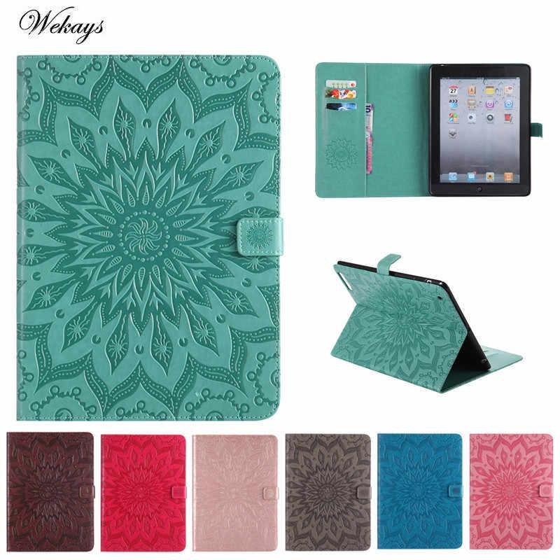 Модная чехол для Apple ipad 3 ipad 2 ipad 4 чехол Sun flower искусственная кожа планшет чехол для ipad 2 3 4 случае чехлы Чехлы Стенд Shell