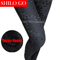 2016 fashion winter women new quality thicker product - lace was thin Slim new women leggings pants feet pencil pants black XXL