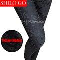 2016 fashion winter women new quality thicker product - lace was thin Slim new women leggings pants feet pencil pants black XXL