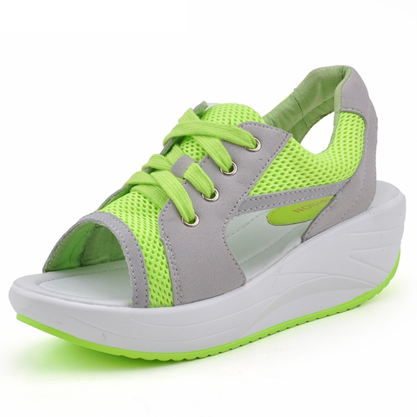 GOGORUNS wanita berlari kasut musim panas wanita sandal kasut perjalanan kasut kanak-kanak perempuan platform berjalan kasut jenama zapatos mujer t168