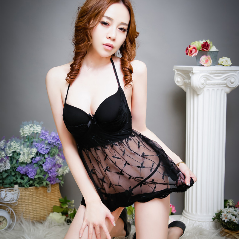 2a7ce99fe Night Sexy Embroidery Transparent Mesh Dress Lace Bodysuit Lingerie Body  Stocking Latex Bodysuit Sexy Fun Sex Stripper Clothes