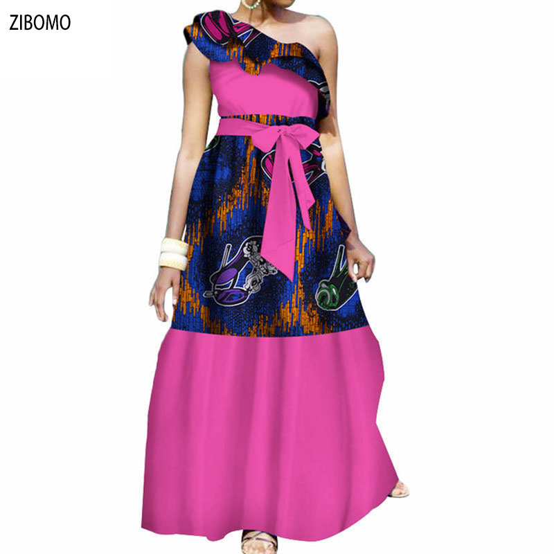 3247f128a9afa African clothing dress for women Nigerian banquet formal maxi plus big size  dashiki ankara wax fabric long dress-in Africa Clothing from Novelty    Special ...