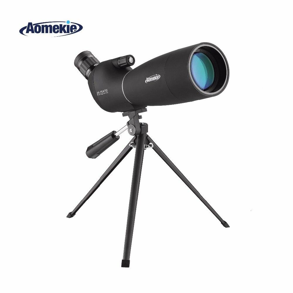 25 75X70 ズームスポッティングスコープ三脚長距離ターゲット撮影バードウォッチング単眼望遠鏡 HD 光学ガラス FMC レンズ  グループ上の スポーツ & エンターテイメント からの スポッティングスコープ の中 1