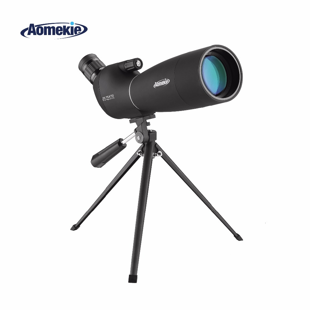 купить 25-75X70 Zoom Spotting Scope with Tripod Long Range Target Shooting Bird Watching Monocular Telescope HD Optical Glass FMC Lens по цене 5536.36 рублей