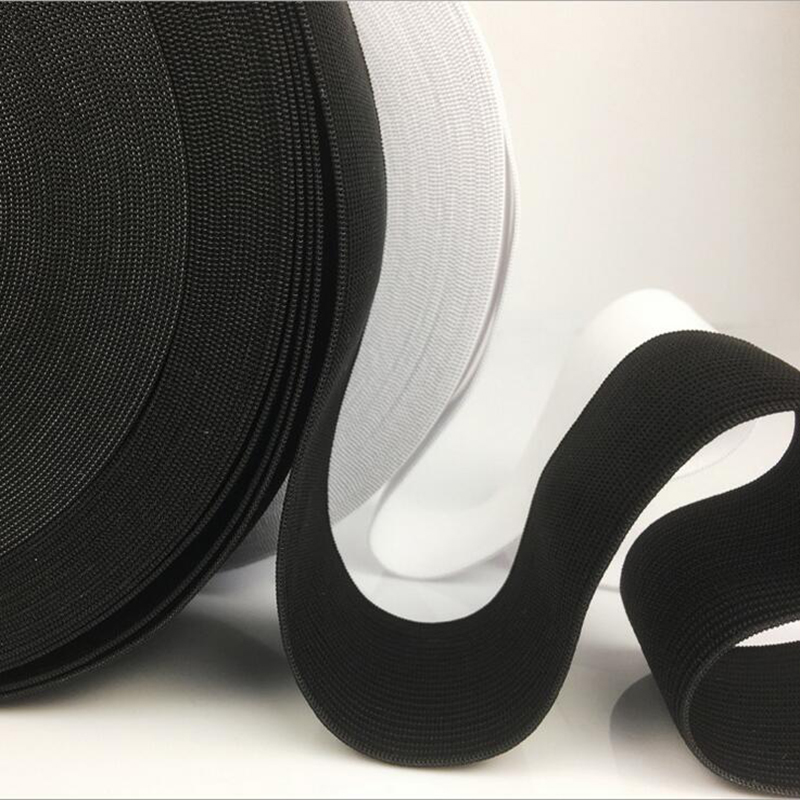 Strong elastic band rubber cord elastic rubber for sewing tie rope elastic shoulder strap elastic bands for pants black elastic in Elastic Bands from Home Garden