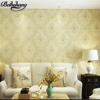 Beibehang papel de parede wallpaper green environment non woven embroidery wallpaper living room bedroom full house TV backgroun