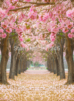 Art Fabric Photography Backdrop Flower Trees Custom Photo Prop backgrounds 5ftX7ft D-1819