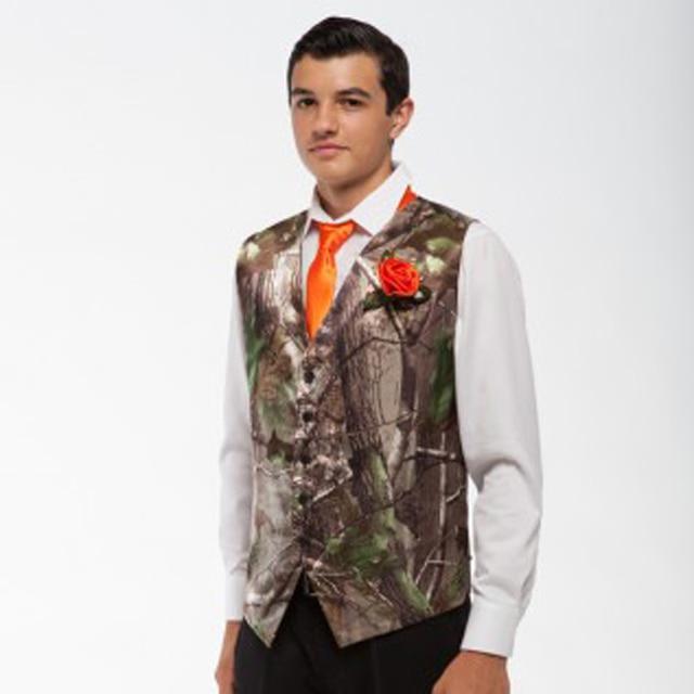 men tux vests camo wedding groom wear man camouflage formal vest ...