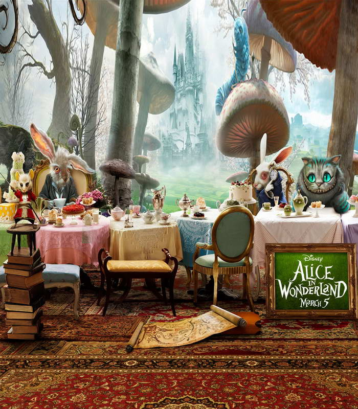 Tr 5ftx7ft Alice In Wonderland Photography Backdrop Cartoon Cat