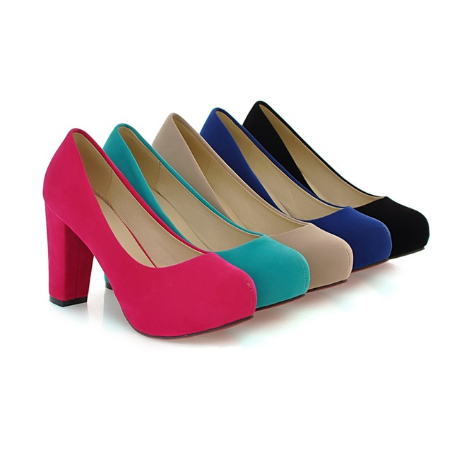 Fashion Block Heel Platform Shoes