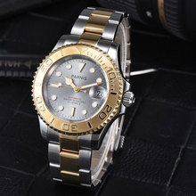 41mm Parnis Grey dial SS band top brand Sapphire glass Luminous Hands Luxury 21 jewels miyota Automatic movement Mens Watch