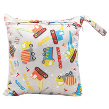 28*30 CM Baby Diaper Bags Printed Zippered Wet/Dry Bag Waterproof Wet Cloth Diaper Backpack Reusable Diaper Cover WetBag