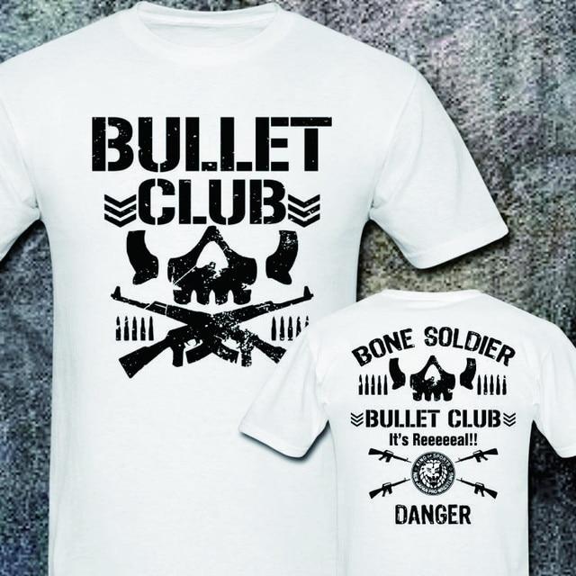 4b082e2448c75 NEW BULLET CLUB NEW JAPAN PRO WRESTLING PURORESU NJPW 2 SIDE BLACK T-SHIRT