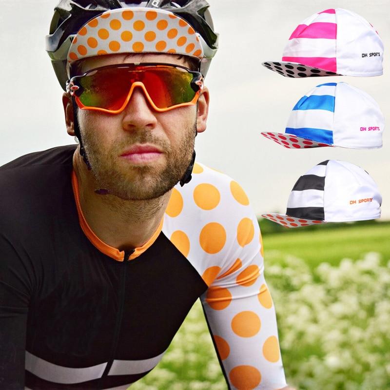 Men Women Team Cycling Caps Road Bicycle Cap Hat Quick Dry Absorb Sweat Dustproof Running Caps Bicycle Equipment Headband