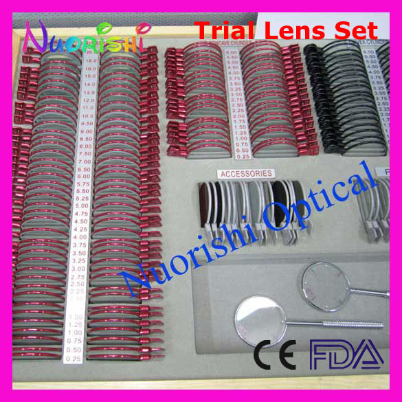 266L-JSC 268pcs High Classic Trial Lens Set Color Metal Rim Leather Case Packed Lowest Shipping costs !