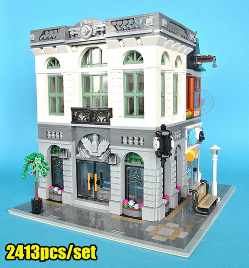 New City Series house fit legoings 10251 creators city set house figures model building kit blocks bricks kid gift diy toys