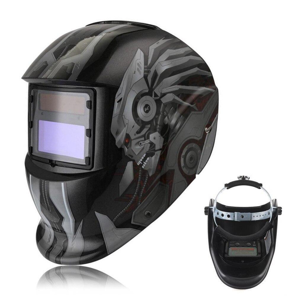 Solar auto darkening welding helmet tig mig weld welder