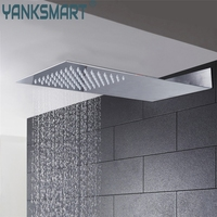 YANKSMART Super Thin Perfect Luxury Hot Sale Square Rain Shower Head Wall Ceiling Mounted Top Over head Shower Sprayer