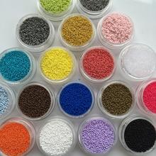 20 Colors 0 6mm 3D Nail Art Glitter Powder Acrylic Gel Nail Polish Beads Tips Rhinestones