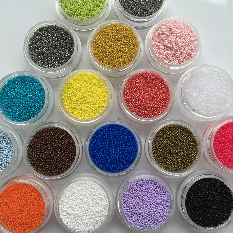 20 Colors 0 6mm 3D Nail Art Glitter Powder Acrylic Gel Nail Polish Beads Tips font