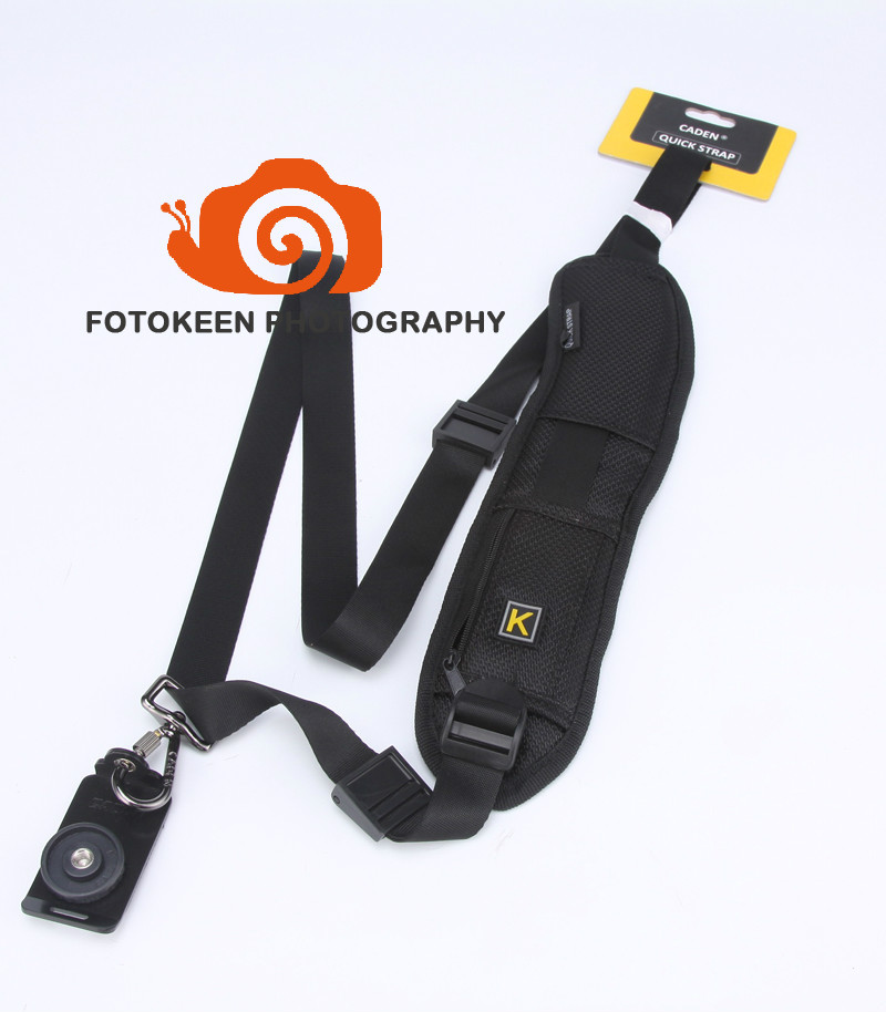 Free shipping Professional Caden Soft Padded & Adjustable Camera Shoulder Strap,Single Neck Strap