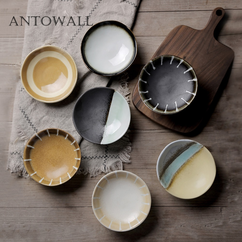 Home & Garden Bowls Antowall Japanese Kiln Ceramic Pottery Tableware Snacks Dim Sum Bowl Dessert Seasoning Bowl Decoration Featured Restaurant