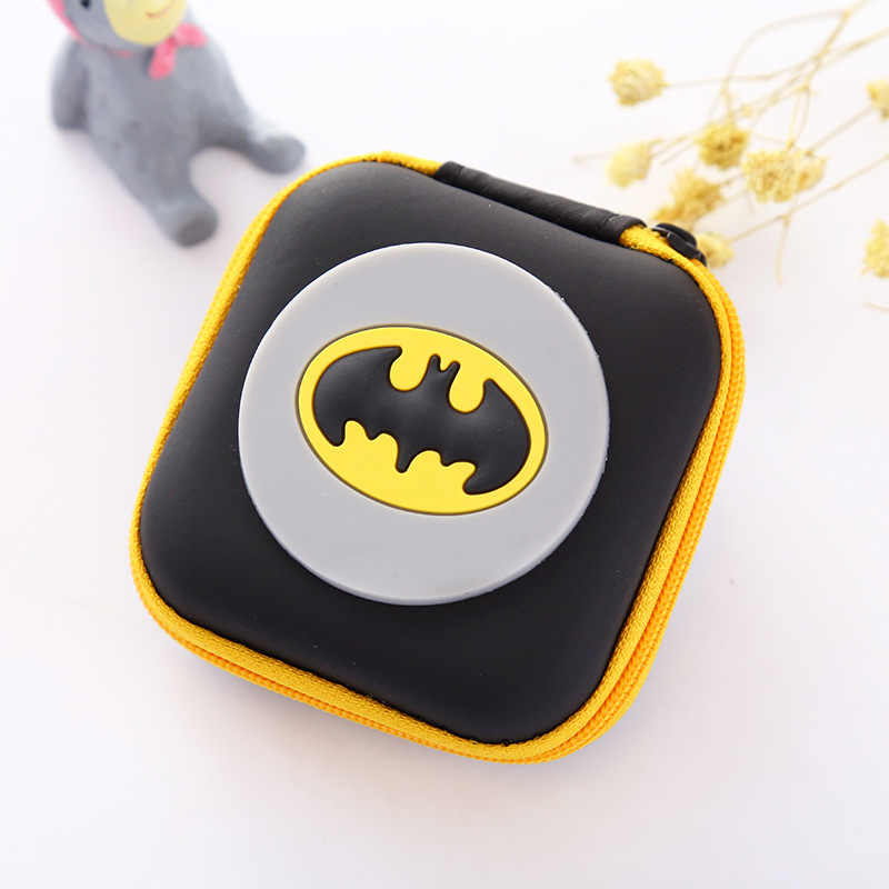 Hot Batman Logo Silicone Coin Purse Novelty Cartoon Anime Hero Bat Man Superman Spiderman Ironman Coin Bag Kids Mini Cute Wallet