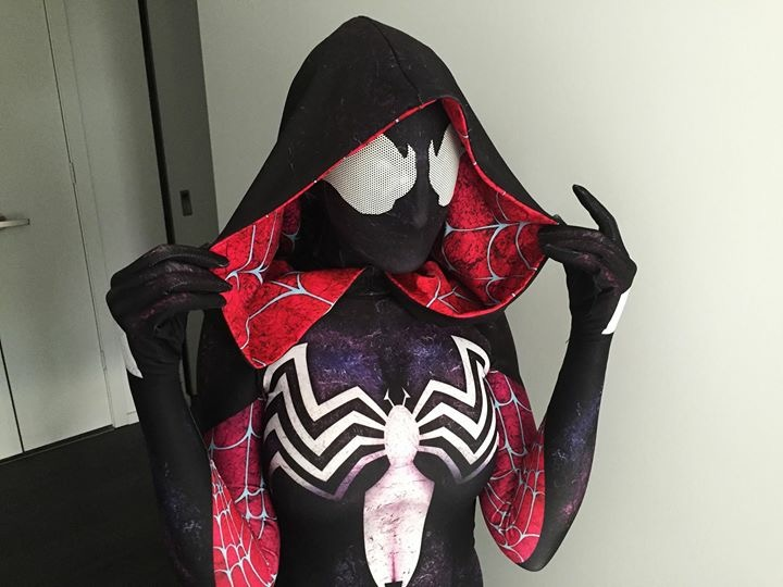 Venom Symbiote Spider Gwen Stacy 3D Print Spandex Halloween Costumes for woman kids Custom Made
