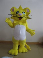100% Real Pictures Fashionable High Quality Yellow Tiger Mascot Costume Halloween Free Shipping