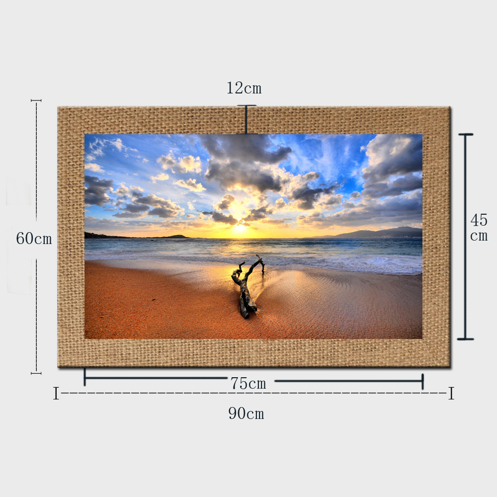 Frameless Seascape Oil Paintings Seashore sunset sea Picture print ...
