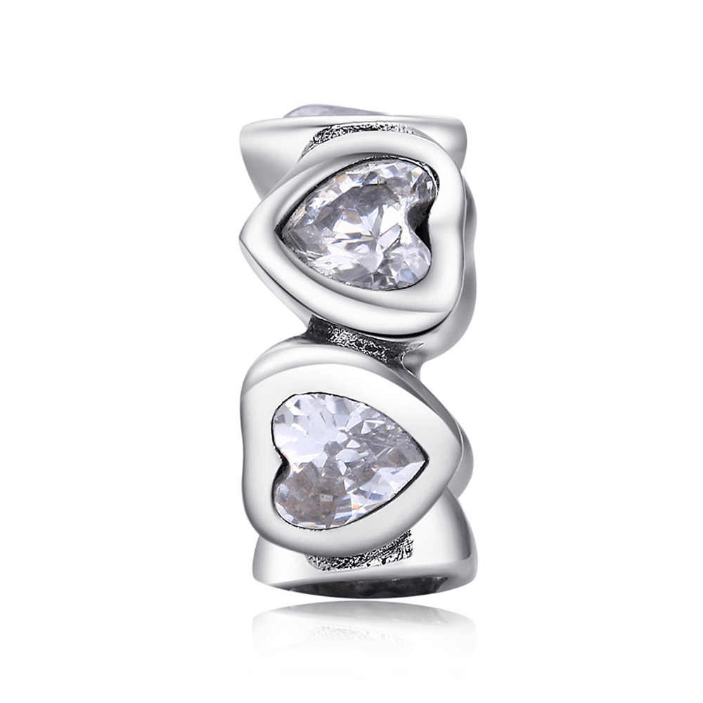 JewelryPalace 925 Sterling Silver Intim Cinta Spacer Hadiah Yang Indah untuk Wanita Anniversary Fashion Perhiasan Baru
