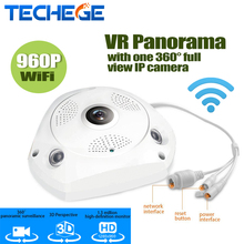 Onvif 960 P 360 Градусов Панорама fisheye Беспроводная камера 3D перспектива wi-fi ip-камера VR Домашней Безопасности Системы видеонаблюдения Скрытые веб-камера