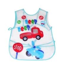 Baby Aprons Kids Pattern EVA Transparent Feeding Clothes Feed Food Baby Bibs Waterproof Cartoon