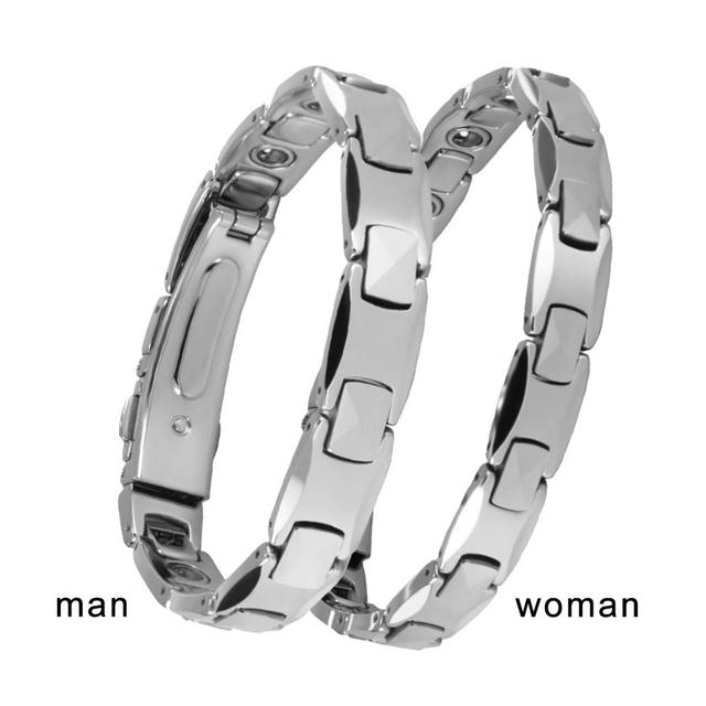 Best Quality Couple Bracelet Germanium Pure Tungsten Steel Energy Stretch Bracelet Bangle For Men Women Health Jewelry