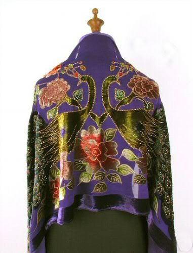 Темно-синий китайских женщин 100% шелковые платки шарфы вышивка бархат бисера пашмины павлин шаблон обернуть Size176 x 68 см WS006