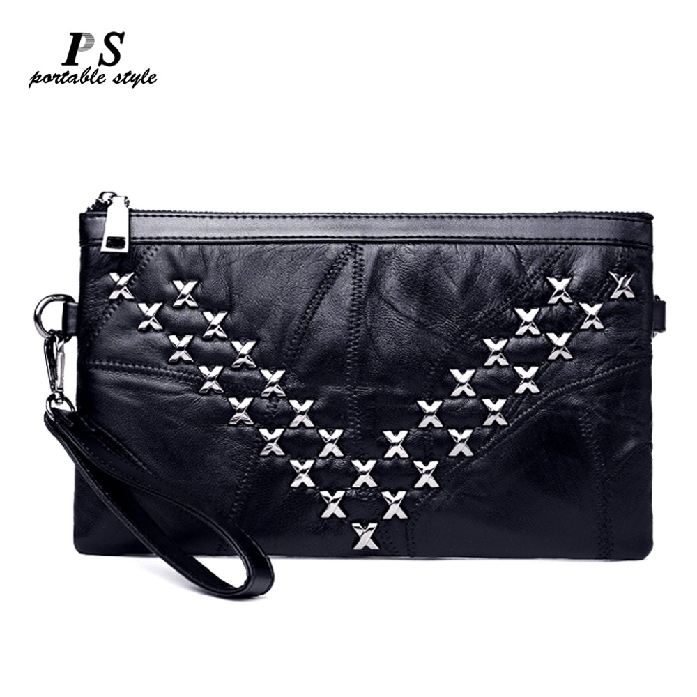 Luxury Women Messenger Bag Genuine Leather Female Handbag Fashion Designer High Quality Sheepskin Clutch Shoulder Bag Women Sac