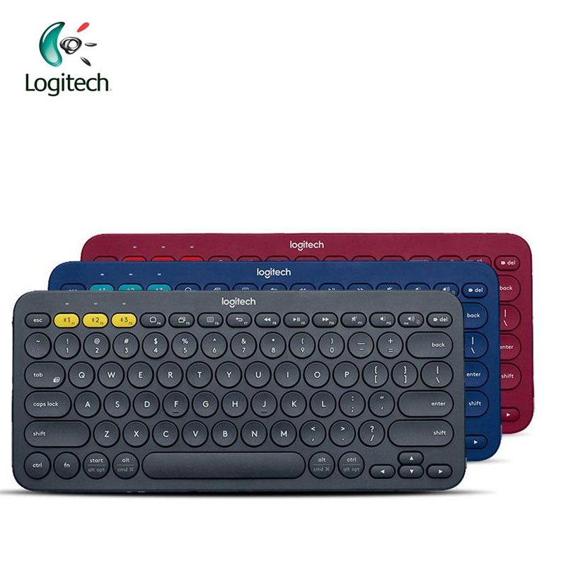 Logitech K380 Multi-Device Bluetooth Keyboard with 2 AAA Battery Support Official Verification for Windows Mac Chrome OS logitech logitech for ipad air ik1050 1 generation with integrated keyboard protection