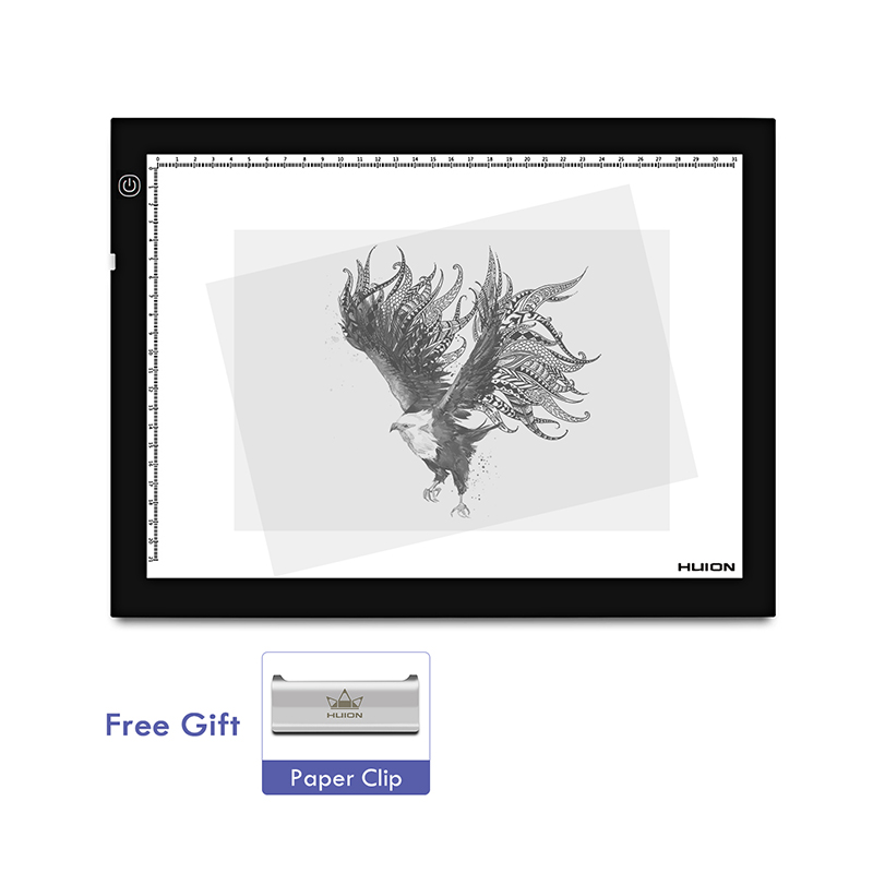 Huion A4 Adjustable Lightness 17 7 Inch LED Artcraft Tracing Light Pad Light Box for Animation