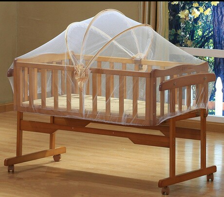 Baby Cribs Bedding Mother Kids Solid Wood Baby Rocking