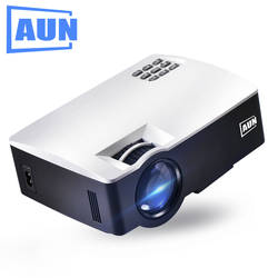 AUN AKEY1 Plus, 1800 Lumens Built-in Android 6.0, WIFI, Bluetooth. Beamer Support 4K Vdeo 1080P for Home Theater LED Projector