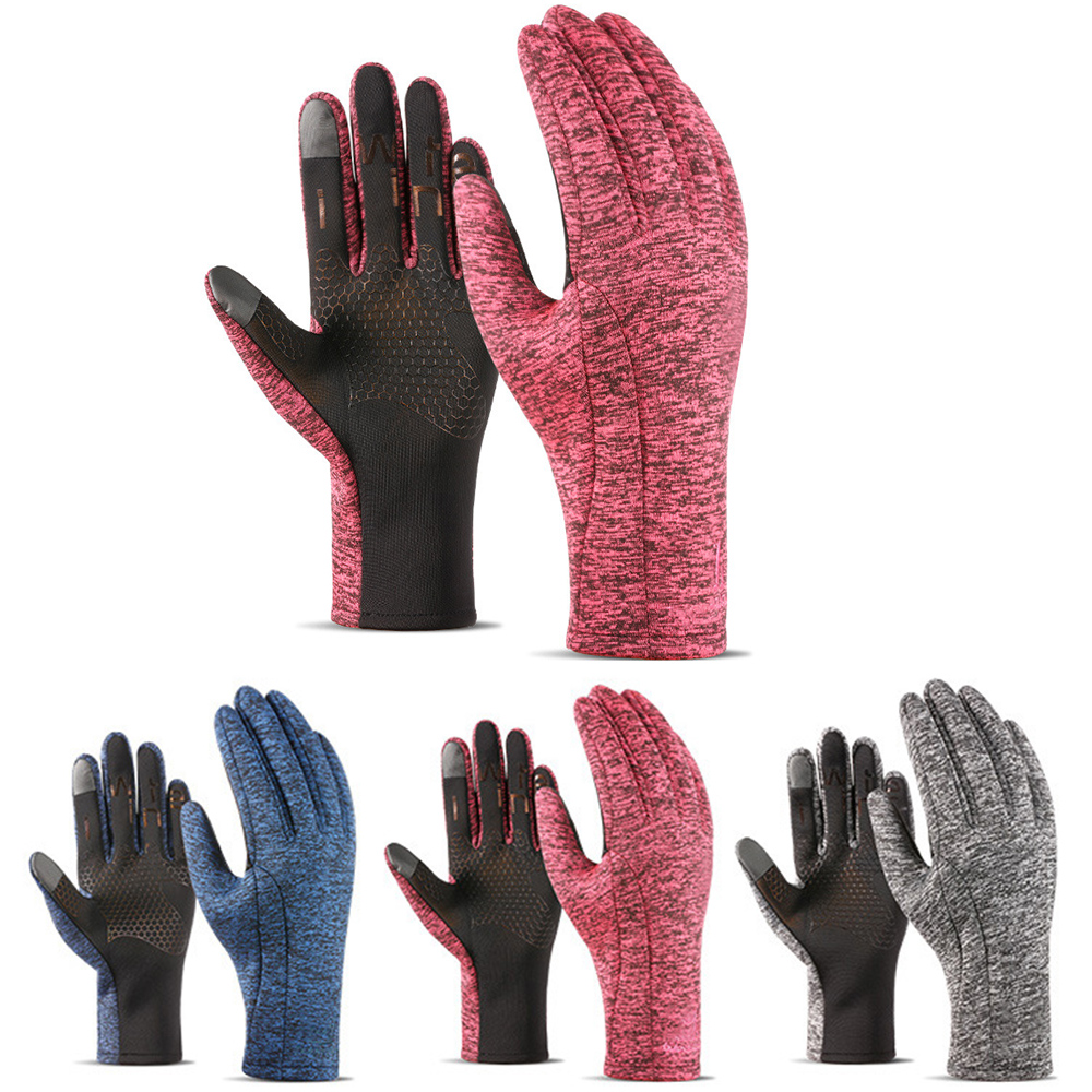 Unisex Outdoor Touch Screen Gloves Motorcycle Sports 1Pair Racing Gloves Warm Windproof