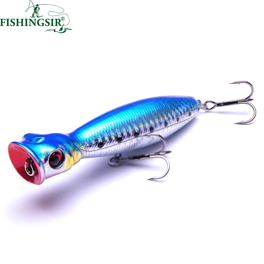 Isca Artificial Big Mouth Popper Fishing Lures 10cm/16g 13cm/36g 8cm/9.5g Topwater Floating Lure Hooks Bait Crankbait halco roosta popper 80 r18 80mm 16g 0m f