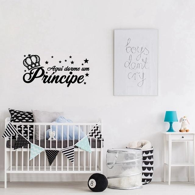 Portugees Versie Princesa Vinyl Muursticker Kids Slaapkamer Decor ...