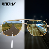 BERTHA Photochromic Polarized UV400 Men Sunglasses Day Night Discoloration HD Anti Glare Goggles BSYS8002