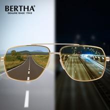 363f2334e2733 BERTHA Photochromic Polarized UV400 Men Sunglasses Day Night Discoloration  HD Anti Glare Goggles BSYS8002