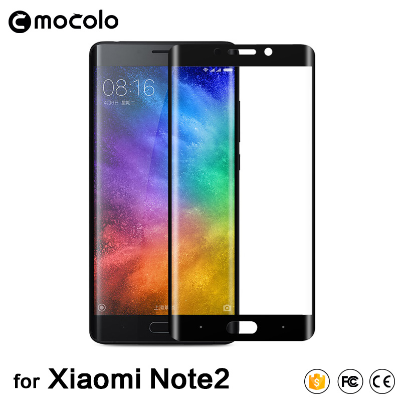 3D Curved Full Cover Tempered Glass For Xiaomi Note 2 Screen Protector Glass For xiaomi mi note2 Σκληρυμένο προστατευτικό φιλμ