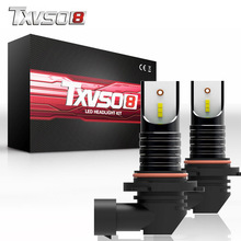 TXVSO8 2PCS LED Car Headlight Bulbs 9006 with CSP Chips-12V 30000LM 6000K led auto light Bulb 55W Auto front Headlamp Fog lamp
