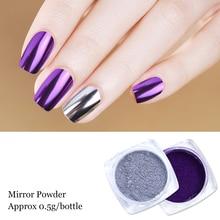1box Rose Gold Mirror Powder Nail Glitter Purple Blue Silver Holo Chrome Nail Pigment Pearl Powder Decoration Manicure LAC/ASX