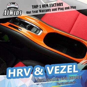 Aiwins Car-styling Auto shift lever gear panel Stick Covers Decoration trim For HRV HR-V Vezel 2014-2016 gear panel cover trim